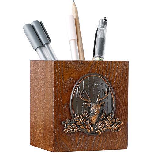 Xiao Long Soporte de bolígrafo de Mesa de Madera Moda Creativa Soporte de bolígrafo...