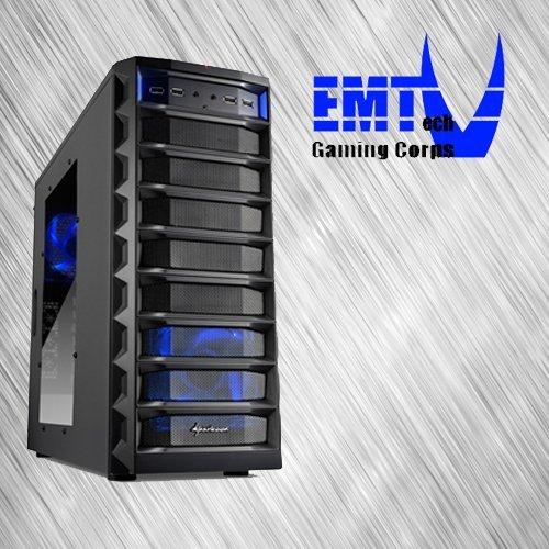 EMTech Gaming Corps ONE FX Advanced V2 | ASUS 970 PRO GAMING / AURA 970 Mainboard | AMD FX-6350 | Radeon R9 380X 4GB | 16GB DDR3 1866 | 1TB HDD + 120 GB SSD | 750W 80+ Gold Thermaltake PSU | (Ohne Betriebssystem)