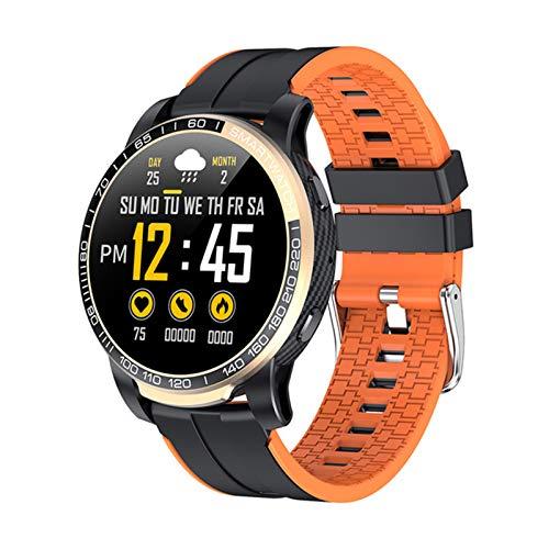 QAK Moda Smart Watch GW20 Bluetooth Call Heart Rate Monitoring Ejercicio Monitoreo Control De Música 1.3 Pulgadas PK L8 Fitness Fitness Tracker para Android iOS,A
