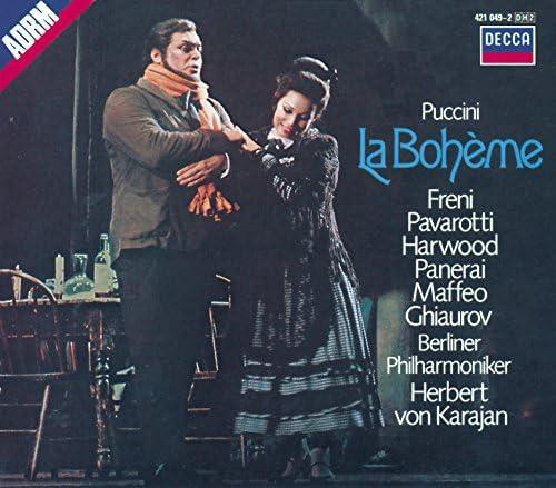 Nicolai Ghiaurov, Berliner Philharmoniker, Herbert von Karajan, Mirella Freni, Luciano Pavarotti, Elizabeth Harwood, Giacomo Puccini & Giacomo Spiardo