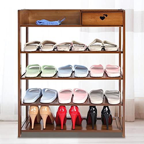 DAUERHAFT Aspecto Elegante, Multicapa, Textura Dura, Estructura Firme, Soporte para Mostrar, Zapatero para decoración del hogar(Five Layers)