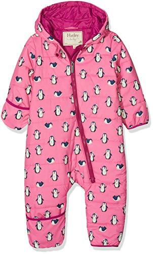 Hatley Baby Winter Bundlers Combinaison de Ski, Rose (Precious Penguins), 12-18 Mois Bébé Fille