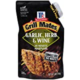 McCormick Grill Mates 30 Minute Marinade, Garlic & Herb, 5.00 Ounce (Pack of 6)