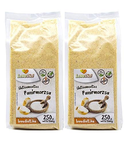 LoveDiet Paniermehl 2erPack(2x250g)- GRATIS VERSAND | Panierteig Vegan | Paniermehl Ersatz | Paniermehl ohne Gluten | Semmelbrösel glutenfrei