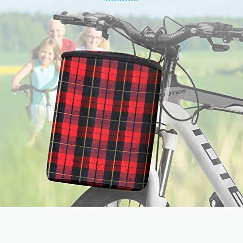 SXFYHXY Cestas de Ciclismo para Bicicleta, Cesta Frontal Plegable, Cesta para Manillar de Bicicleta, Cesta para Mascotas, Gato y Perro, Bolsa de Compras, Cesta para Bicicleta