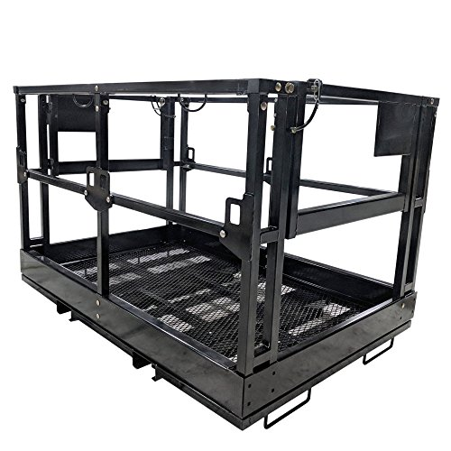 Titan Telehandler Safety Basket, Forklift Attachment, Safety Cage, Work Platform 4ft x 6ft