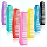 12 Pieces Colorful Hair Combs Set for Kids Women Men Colorful Plastic Fine Dressing Comb (Yellow, Purple, Green, Blue, Red, Pink)