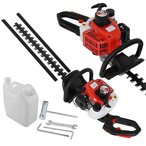 """DDDF Gas Hedge Trimmer,26cc 2-Cycle Gas Hedge Trimmer 20"""" Double-Sided Blade Recoi-l Gasoline Trim Blade"""
