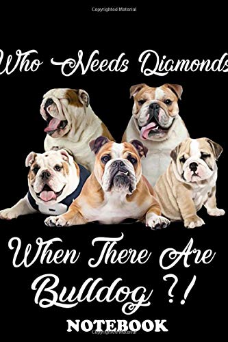 Notebook: Bulldog Art 23 Poster Decor , Journal for Writing, College Ruled Size 6' x 9', 110 Pages