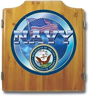 United States Navy Wood Dart Cabinet Set