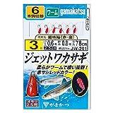 がまかつ Gamakatsu ジェットワカサギ細地袖 赤金6本 JW201 2.5号-ハリス0.4. 45209-2.5-0.4-07