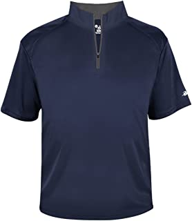 Navy Blue Adult Large 1/4 Zip Wicking Pullover