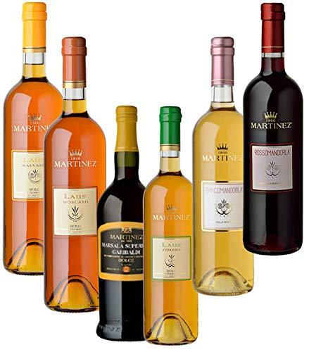 Sicilia Bedda - IDEA REGALO VINI LIQUOROSI SICILIA - Marsala Dolce, Zibibbo, Malvasia, Biancomandorla, Rossomandorla, Moscato (6 Bottiglie da 75 Cl)