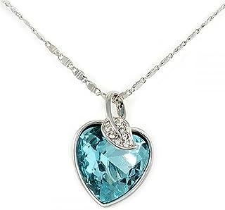 Swarovski Elements 18K Gold Plated Heart Crystal Pendant Necklace, SWR-175