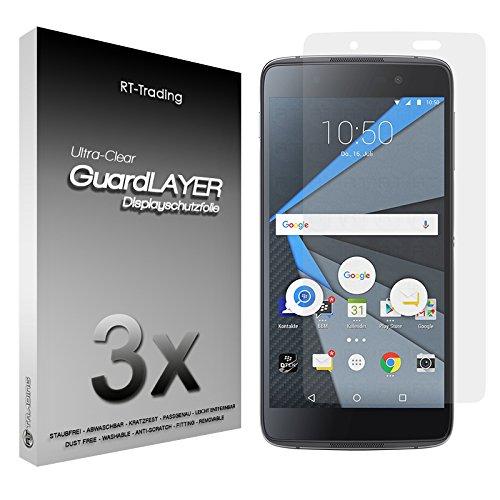 3x BlackBerry DTEK50 - Bildschirm Schutzfolie Klar Folie Schutz Bildschirm Screen Protector Bildschirmfolie - RT-Trading
