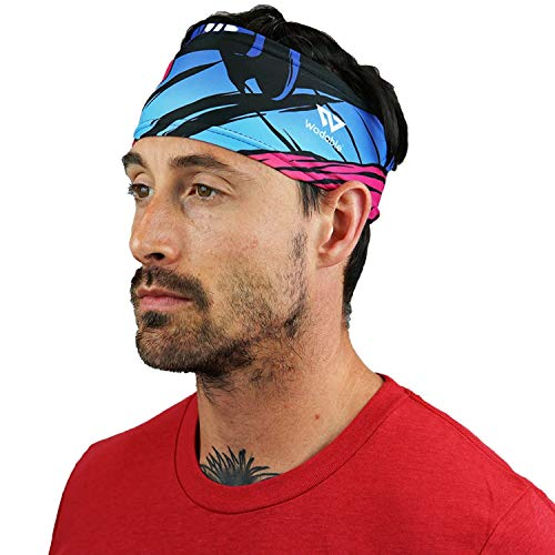 WODABLE - Fascia per capelli con nebbia rossa, taglia unica, unisex, ultra morbida, per palestra, sport, corsa, escursionismo