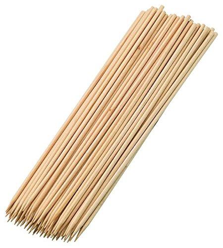 Westmark Schaschlikspieße 20cm 100 Stück aus Birkenholz, Holz, beige, 20 x 0.3 x 0.3 cm, 100-Einheiten