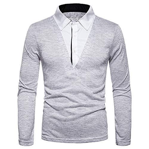 OEAK' herentrui slim fit lange mouwen omlegkraag vrije tijd vrije tijd vrijetijdshemd met knoopsluiting lange mouwen shirt