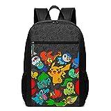 WLQP Pok?mon 2 Cool Youth Backpack Shoulder Bag for Traveling