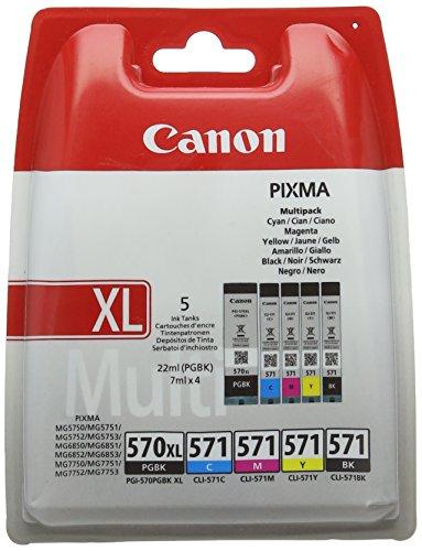 CANON Cartouche Encre PGI-570XL/CLI-571 PGBK C/M/Y/BK MULTI BL (0318C004)