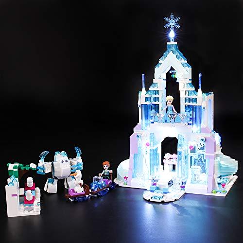 BRIKSMAX Kit di Illuminazione a LED per Lego Disney Princess Il Magico Castello di Ghiaccio di Elsa,Compatibile con Il Modello Lego 41148 Mattoncini da Costruzioni - Non Include Il Set Lego.