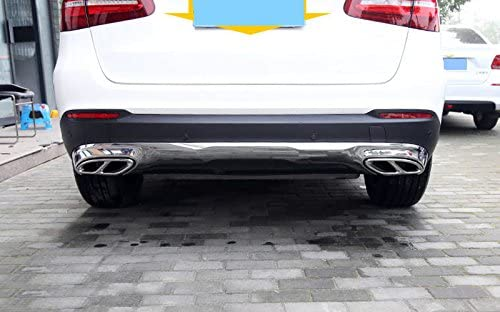 Color : Black JHDS Exhaust Tail Tip For Mercedes Benz CLA C117 2013-2016 Car Tail Throat Cover Trim Exhaust Outlet Decoration Stickers 2Pcs Exhaust Muffler Tail Pipe