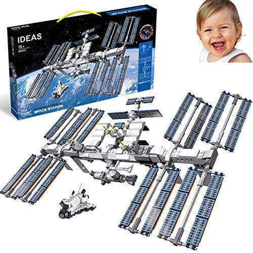 Estación Espacial Internacional, Juguetes De Bloques De Construcción De Rompecabezas De Alta Dificultad para Adultos, Vuelo Espacial De Simulación, Regalo De Rompecabezas Creativo