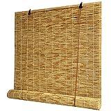 Persianas de rodillos de bambú, 50 cm 60 cm 70 cm 80 cm 90 cm 100 cm 110 cm 120 cm 130 cm 140 cm de ancho, enrollar tonos cortina de caña, persianas de elevación natural / tejida a mano, fácil de inst