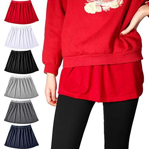 4 Faldas de Barrido Inferior Falda Falsa Dobladillo de A Versión, 6 Colores