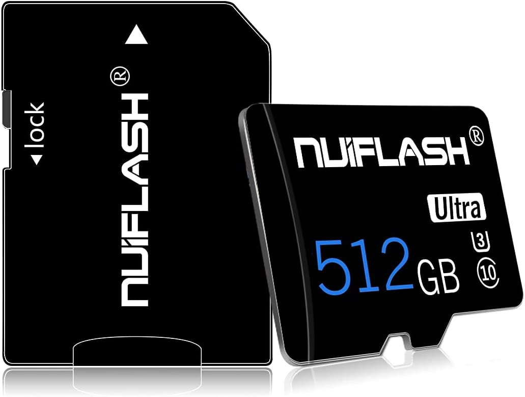 Micro SD Card 512GB TF Card,SD Memory Card 512GB Class 10 with Free Adapter,Designed forAndroid Smartphones,Tablets and Others
