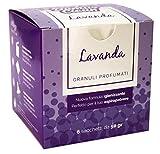 domus clean Granuli profumati per aspirapolvere - Fragranza Lavanda - Scatola con 6 bustine da 50 Grammi