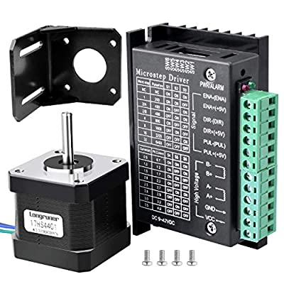 Longruner Tb6600 Nema 17 Stepper Motor Driver for 3D Printer / CNC Bipolar 1.7A / 24V 42X40mm Body 4-Channel & 32 Segments 4A 40V 57/86 Stepper Motor Driver LD09
