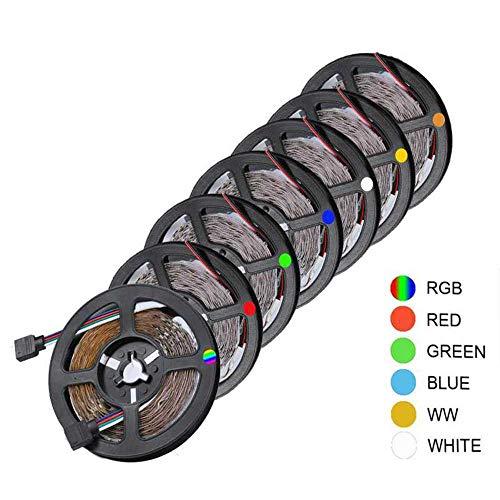 YSNMM 5M Led-strip lamp 2835Smd Dc12V Flexibel LED-licht plakband niet waterdicht RGB/wit/warm wit/rood/blauw/groen LED strip huis