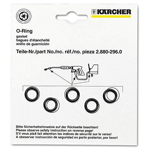 Kärcher 2.880-990.0 O-Ring-Dichtungen für Schlauchpistolenteil, Ersatz, Lanze, Set, 5X-Kaercher, 5 Stück