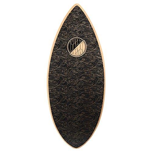 Osprey Surf Unisex Ondas Tabla de Skimboard, Negro, 41cm