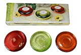 3 Pack Elegant Glass Tealight Candle Holders
