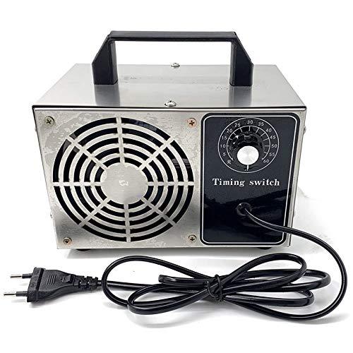 Nrpfell Generador de Ozono 220V 20G Generador de Ozono Purificador de Aire Tratamiento de Limpieza del Hogar Eliminador de Ozono, Enchufe de la UE
