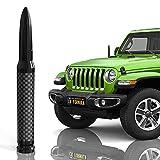 "CK FORMULA 50 Cal Bullet Antenna for SUV - Carbon Fiber 5.5"" Black Automotive Antenna Replacement, AM/FM Radio Compatibility, Solid 6061 Aluminum Grading, Anti Theft Design, Car Wash Safe, 1 Piece"