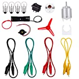 Elcoho Science Electric Circuit Kits Educational Montessori Learning Kits Electric Motor Light Kit for DIY Practical Science Project Kit, 15 Pieces
