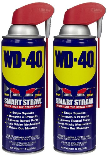 WD-40 Lubricant, Smart Straw Can, 12 oz-2 pk
