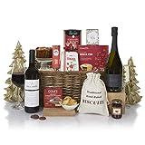 """Luxus-Weihnachts-Präsentkorb """"Schlittenglocken"""" – Präsentkorb mit Essen und Wein – Ideen für Weihnachtspräsentkörbe"""