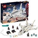 LEGO-Marvel Spider-Man L'attaque de Spider-Man avec le jet de Stark Jeu de construction, 8 Ans et Plus, 504 Pièces 76130