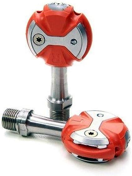 SpeedPlay Unisex_Adult Zero Edelstahl Pedalset INKL. walkable Cleats, Rot, 61110 Pedals, red, Uni