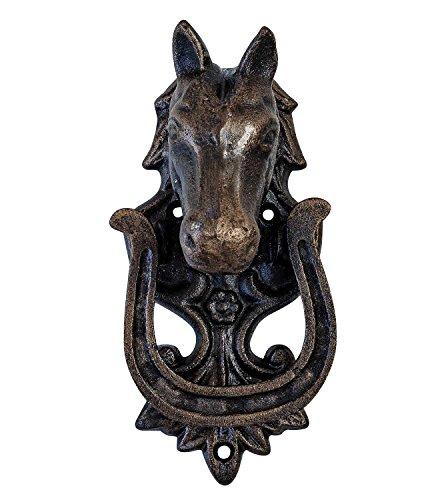 aubaho Antik Stil Türklopfer Pferd Pferdekopf Türbeschlag Tür Horse doorknocker
