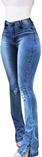 Womens Slim Fit Denim Pants Washed Sexy Distressed High Waist Jeans