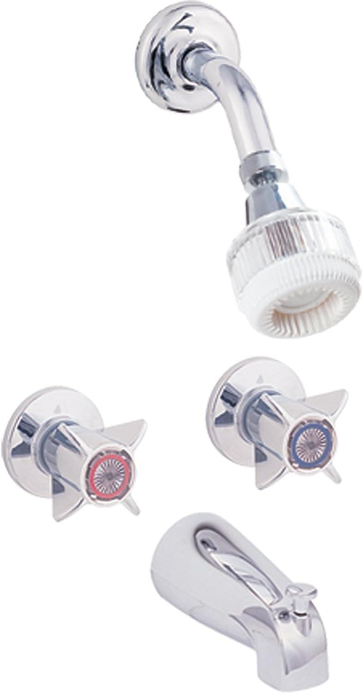 Ez-Flo 10491N Tub and Shower Sets - Compression Chrome