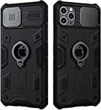 Case Compatible with iPhone 12 Pro Max, CamShield Armor Case with Ring Kickstand and Slide Camera Cover, PC & TPU Impact-Resistant Bumpers Protective Case for iPhone 12 Pro Max 6.7 inch (Black)
