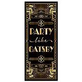 musykrafties Roaring 20s Grandeur Party Like Gatsby Door Cover Art Deco Jazz Party 72x30inch