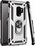 Galaxy S9 Case,ZADORN 15ft Drop Tested,Military Grade Heavy Duty Protective Cover with Hard PC and Soft Silicone Kickstand Phone Case for Samsung Galaxy S9 (Small Size 5.8') Silver