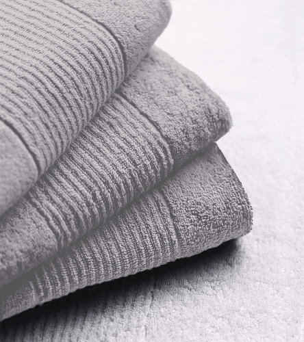 N&K Bielefelder Wäsche: sehr saugfähiges kleines Seiftuch 30x30 (6er Pack) - Silber Uni
